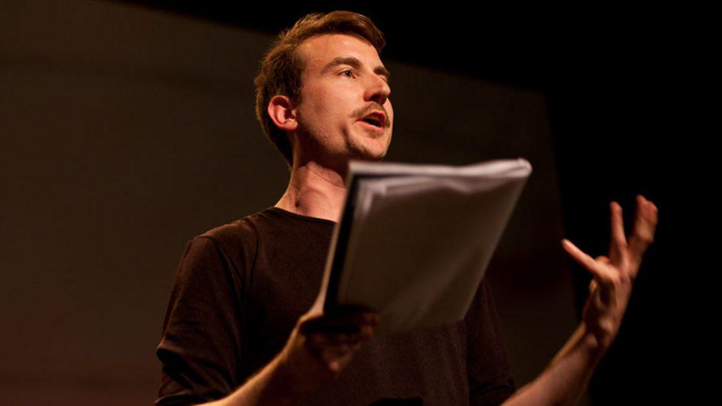 Olivier Sylvestre au 14e Festival du Jamais Lu, Le show du non-exil © David Ospina
